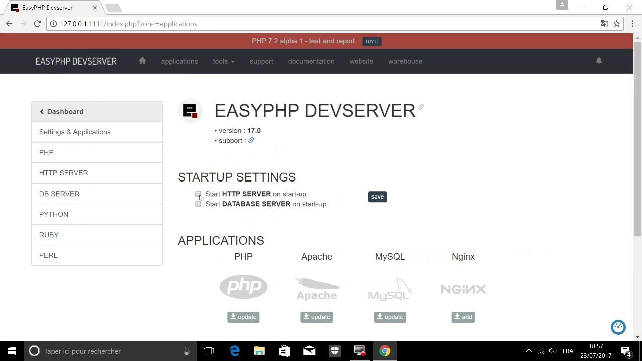easyphp windows 10