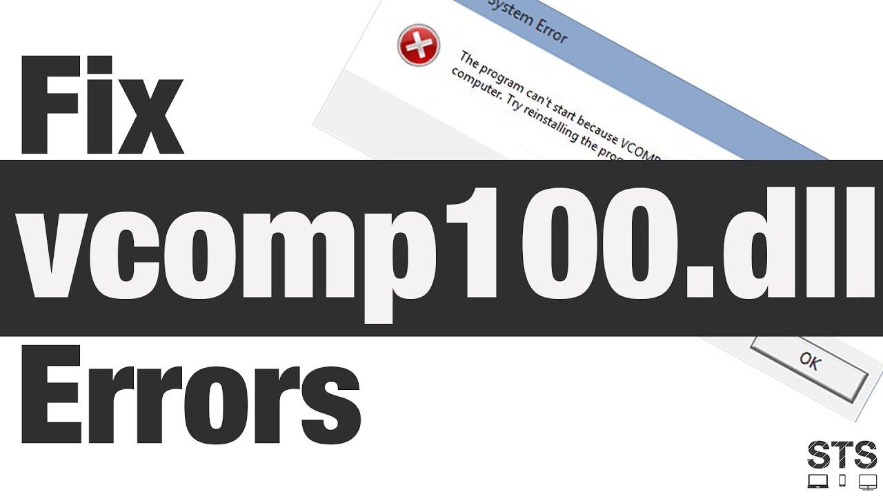 vcomp100.dll was not found
