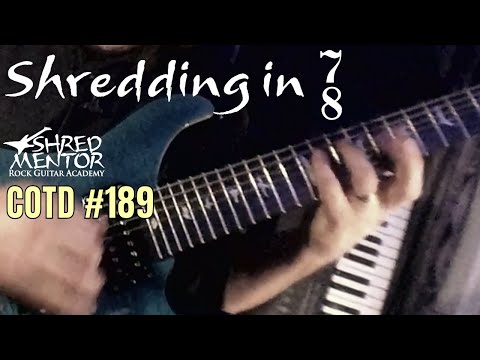 Shredding in 7/8 | ShredMentor Challenge of the Day #189
