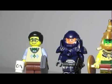 Lego Series 7 Minifigures Programmer, Aztec Warrior, Space Marine, and Tarzan Review