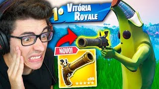 ENCONTREI A NOVA PISTOLA REPULSORA E MATEI GERAL!! Fortnite: Battle Royale thumbnail