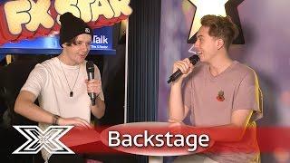The X Factor Backstage with TalkTalk | Ryan Lawrie discusses Nicole's pint-pulling technique!