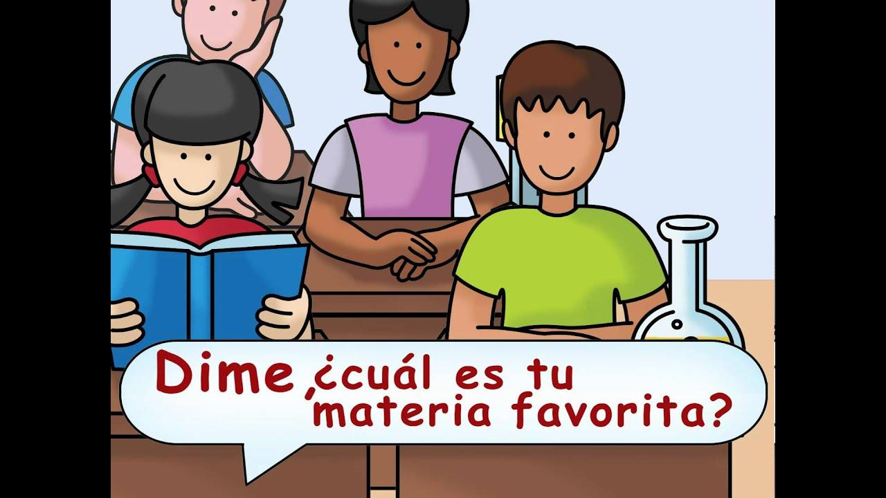 What S Your Favorite Subject In School Cuál Es Tu Materia Favorita Calico Spanish Songs Youtube