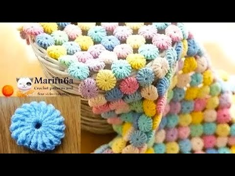 How to crochet circle afghan blanket free easy pattern tutorial for ...