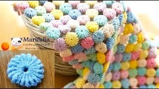 How to crochet Macaron circle afghan blanket free easy pattern #marifu6a