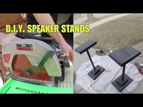 DIY Wood+Steel Speaker Stands - REV J HD
