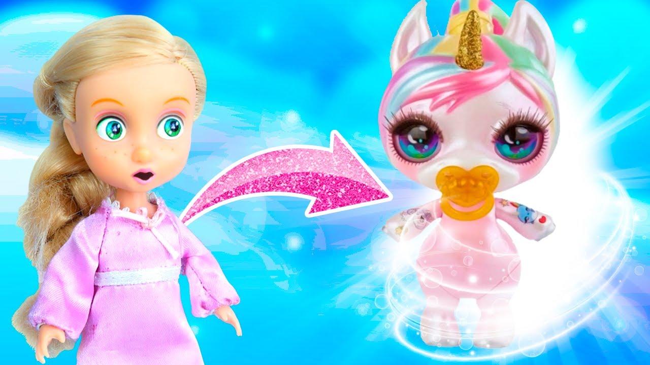 ¡Rapunzel se Convierte en Unicornio Rosa!  | Princesas de Disney