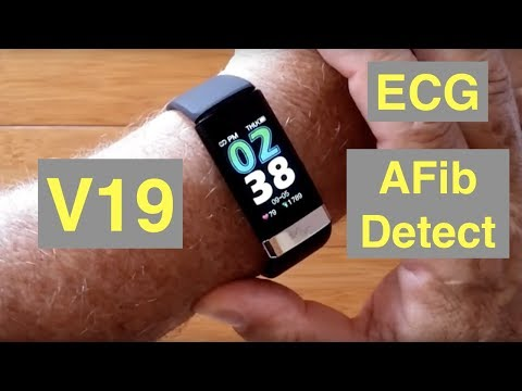 BAKEEY V19 Atrial Fibrillation ECG IP68 Waterproof Health Fitness Band: Unboxing and 1st Look from YouTube · Duration:  42 minutes 48 seconds