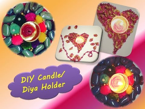 DIY Candle holders/ Candle holder decoration ideas/Diwali Decoration (#3)