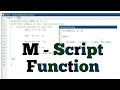 MATLAB Scripting - 5 - How To Write Function In M Script