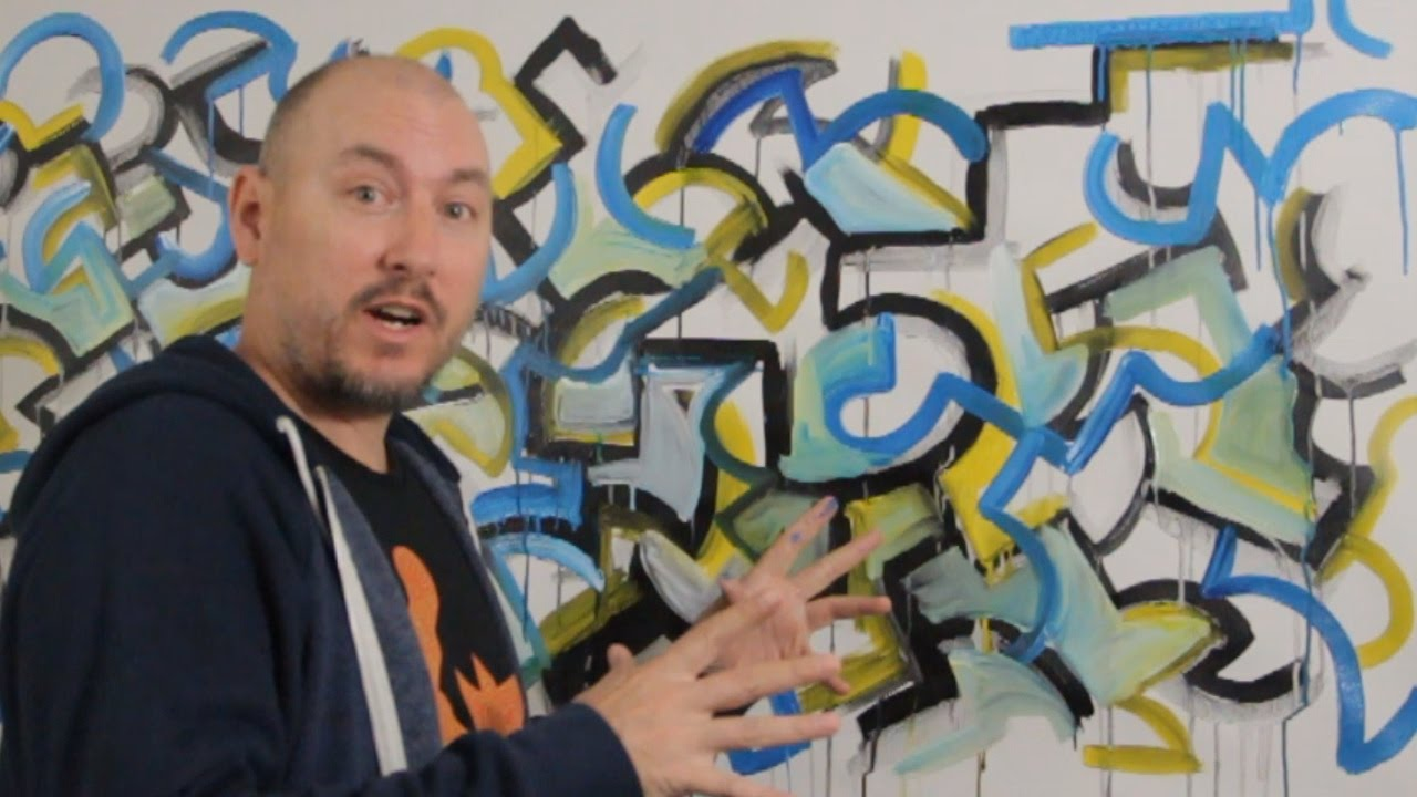 How to paint graffiti style without spray cans with raeart