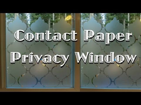 Privacy Window Using Contact Paper  YouTube