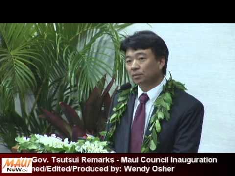 Tsutsui Remarks Maui Council Inauguration 2013