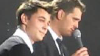 Michael Buble & Leon Jackson Lost Glasgow FRONT ROW VIDEO