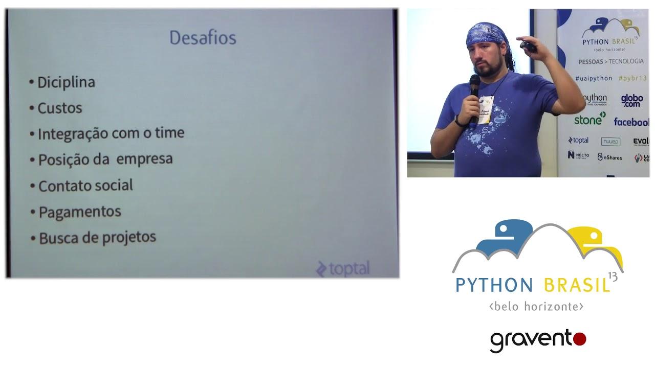 Image from Desafios e vantagens do trabalho remoto freelancer Python. - Julio Melanda