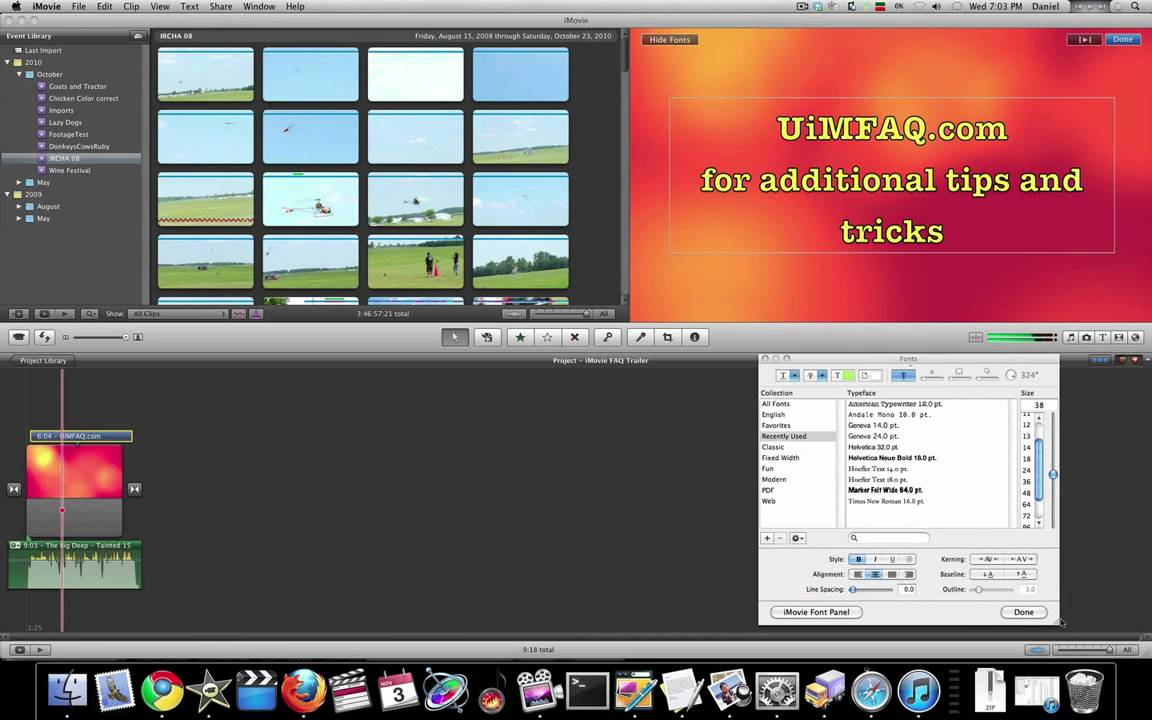 iMovie 11 Tutorial - Working with Fonts and Titles Part 2