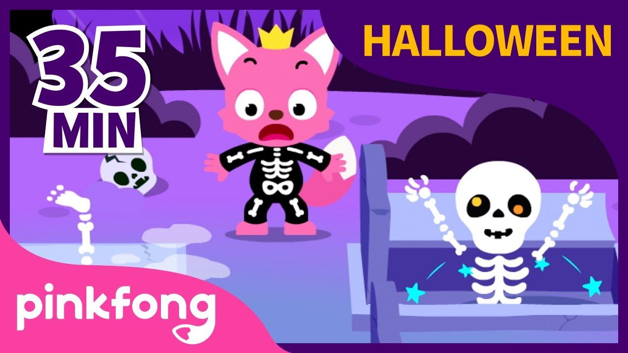Las calaveras salen de su tumba💀 | Halloween | Música Infantil | +Recopilación | Pinkfong Canciones