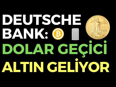 DEUTSCHE BANK: DOLAR GEÇİCİ ALTIN GELİYOR - EKONOMİ HABERLERİ - DÜNYANIN HABERİ 128 - 26.07.2020