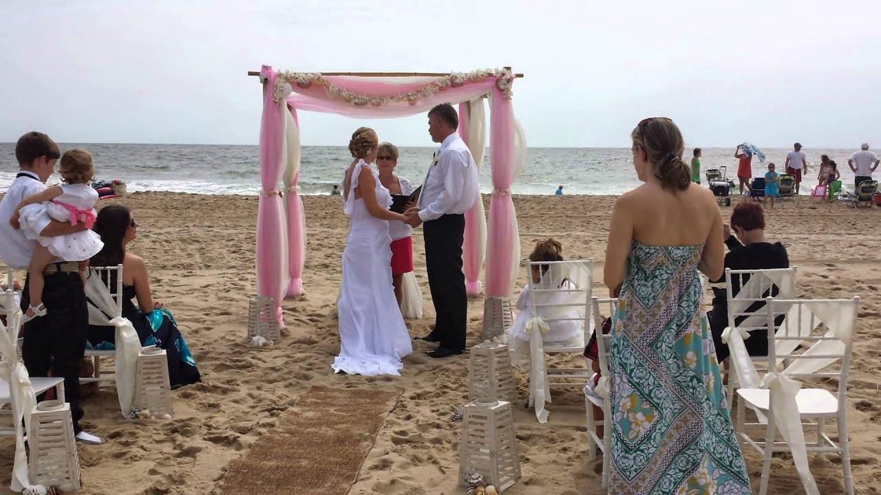 Ocean City Beach Wedding: Barefoot Bride Ocean City Md Beach Weddings. Seashells