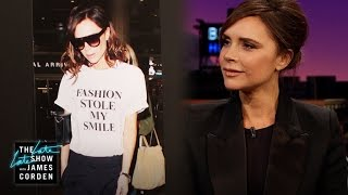 Victoria Beckham's Poker Face Works Well for Her thumbnail