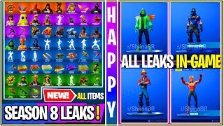 *NEW* Fortnite: ALL SEASON 8 LEAKED COSMETICS IN-GAME LOCKER! (Emotes, Skins, & More)