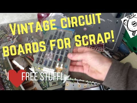 Old circuit boards at the drop off bin. Buying stamps to save on shipping .