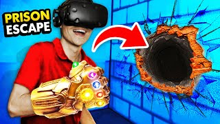Creating THE INFINITY GAUNTLET To ESCAPE PRISON In Virtual Reality (Prison Boss VR Funny Gameplay)