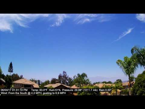 Chino Hills Time-Lapse 6/4/17