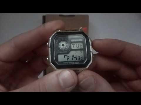 Водостойкие часы Skmei 1335 Silver обзор, настройка, инструкция на русском, отзывы