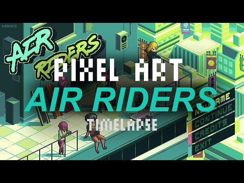 Air Riders - Pixel art timelapse
