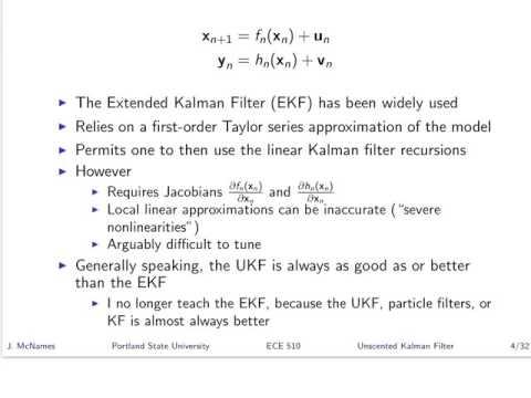 SST T20 Unscented Kalman Filter - Part 1
