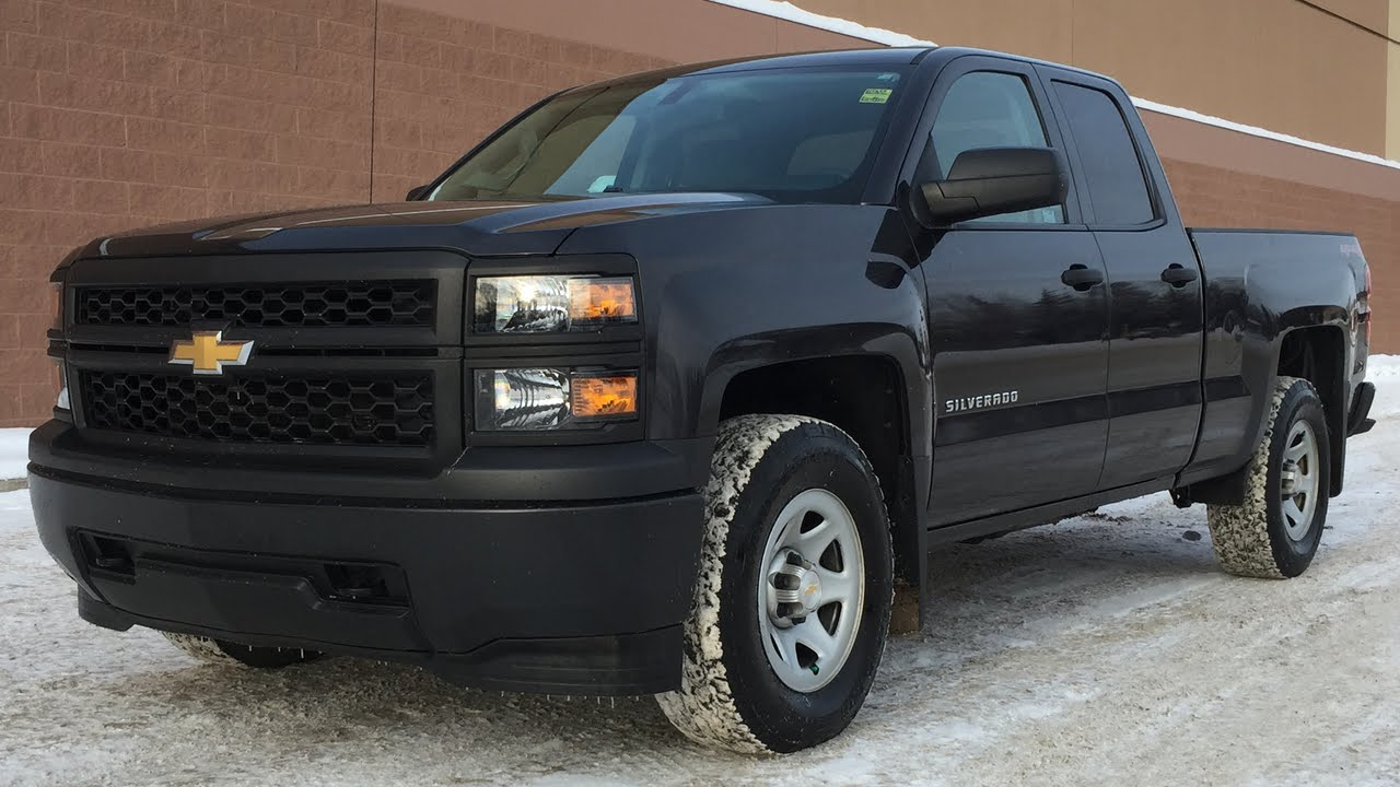 2014 chevrolet silverado 1500 wt 4wd double cab 5 3l v8 power windows locks youtube. Black Bedroom Furniture Sets. Home Design Ideas