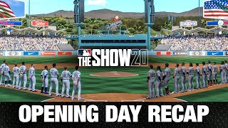 Opening Day Recap from MLB The Show 20 (Opening Day Simulation)