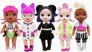 Play Doh LOL Surprise Doll Dusk P.H.D.B.B SPIKE Funky Q.T. Royal High-Ney