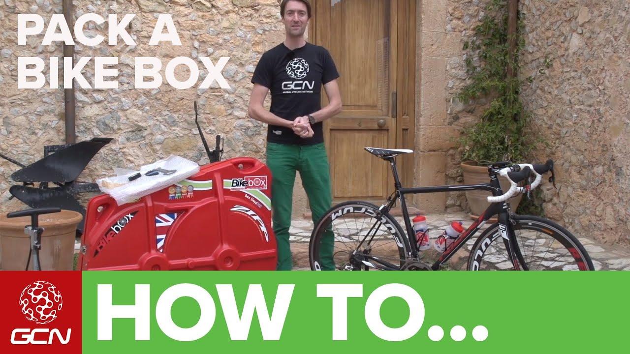 How To Pack A Bike Box - YouTube