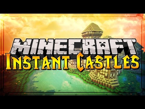 Minecraft Massive Instant Structures: CASTLES, TOWERS, and GATES! (Only One Command)