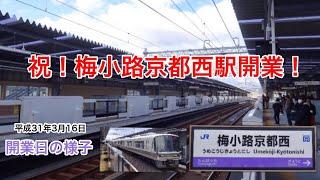 【新駅】梅小路京都西駅開業日の様子 2019.3.16