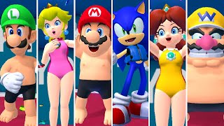 Mario & Sonic at the Olympic Games Tokyo 2020 - Swimming (All Characters)