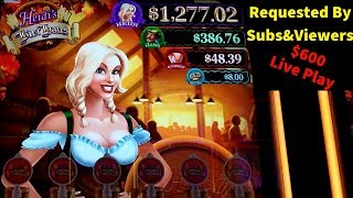 Heidi's Bier Haus Slot Machine $6 Max Bet Live Play | Requested By Subscribers&Viewers
