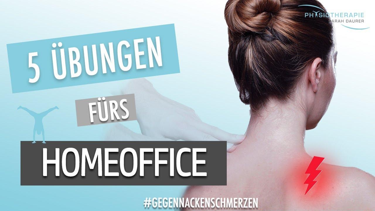5 Übungen fürs Homeoffice - reduziere deine Nackenschmerzen & CO. - Physiotherapie Sarah Daurer