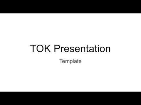 Tok Presentation Outline Youtube
