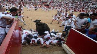 Pamplona: 2 Verletzte beim Stiertreiben