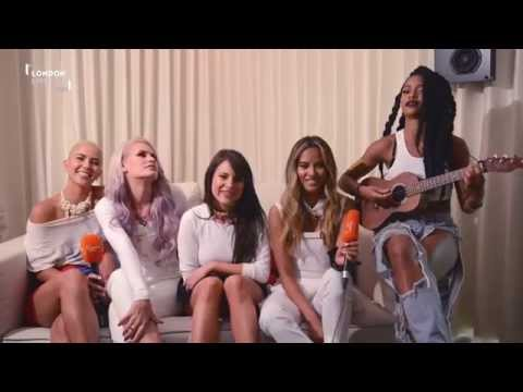 Girl band G.R.L. perform acoustic version of Ugly Heart