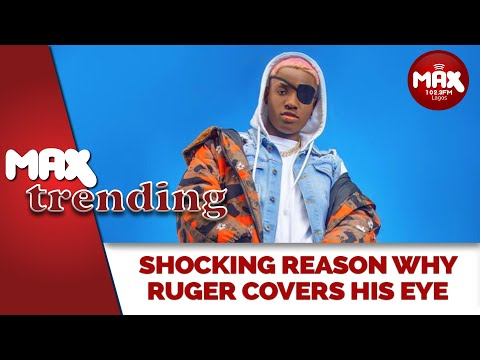 Shocking Reason Why Singer, Ruger Covers His Eye
