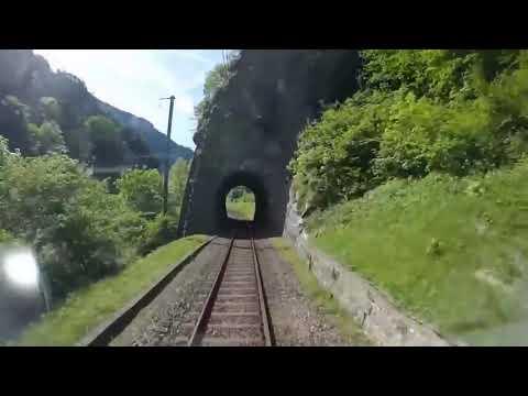 Швейцария из кабины машиниста поезда HD