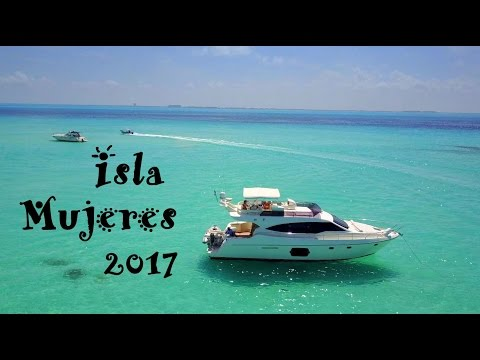Isla Mujeres  Mexico drone footage 4K