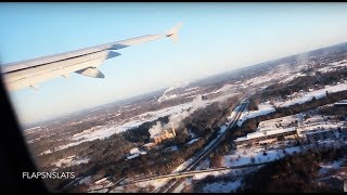 COLD SNOWY A320 Takeoff PWM with Deice | 1080p HD