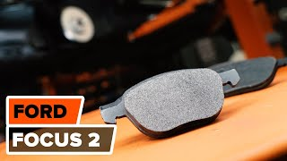Cum se schimba discurile de fr'nі Йi placutele de frana din faЛі pe  Ford  Focus 2 | Tutorial HD