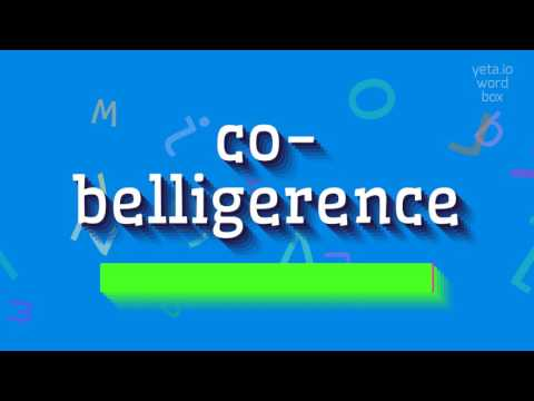 "How to say ""co-belligerence""! (High Quality Voices)"