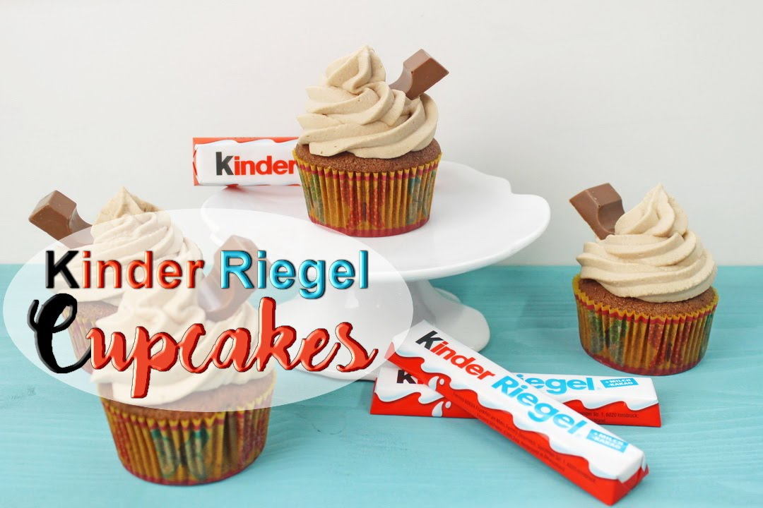 kinderriegel cupcakes backen schoko cupcakes mit kinderriegel creme selber machen youtube. Black Bedroom Furniture Sets. Home Design Ideas